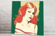 Картина Pintdecor Red woman g1006