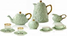Сервиз Villari Marie Antoniette Tea Time Taormina зеленый